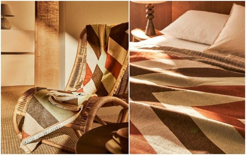Zara Home Möbel Dekoartikel Bettdecke aus Baumwolle