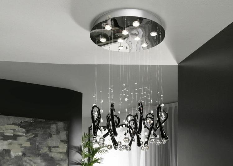 Designer Lampe Glas und Kristall herrlicher Look