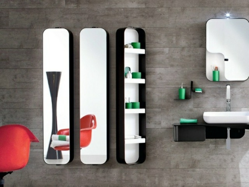 Schranksystem hängend Spiegel modern