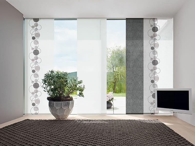 elegante Flächengardinen weiß grau