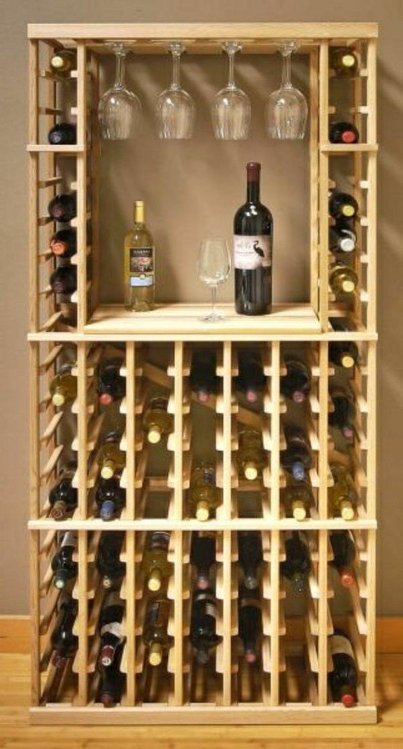 Regal groß praktisch Weinflaschen