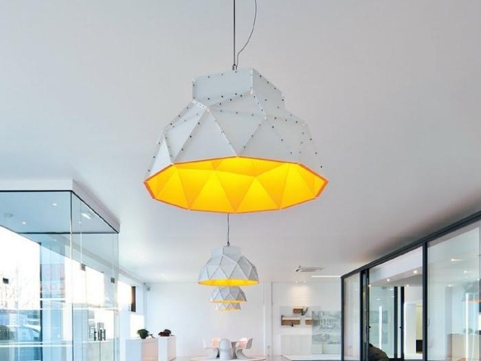 Wohnzimmerlampen PVC weiß gelb