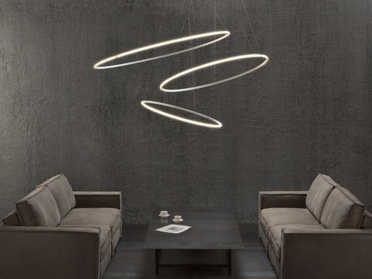 runde Wohnzimmerlampen LED herrlicher Look