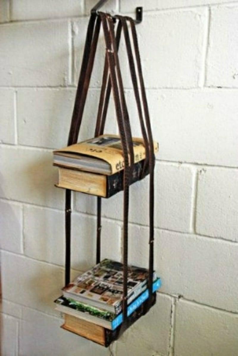 Bücherregal hängend originelle Idee