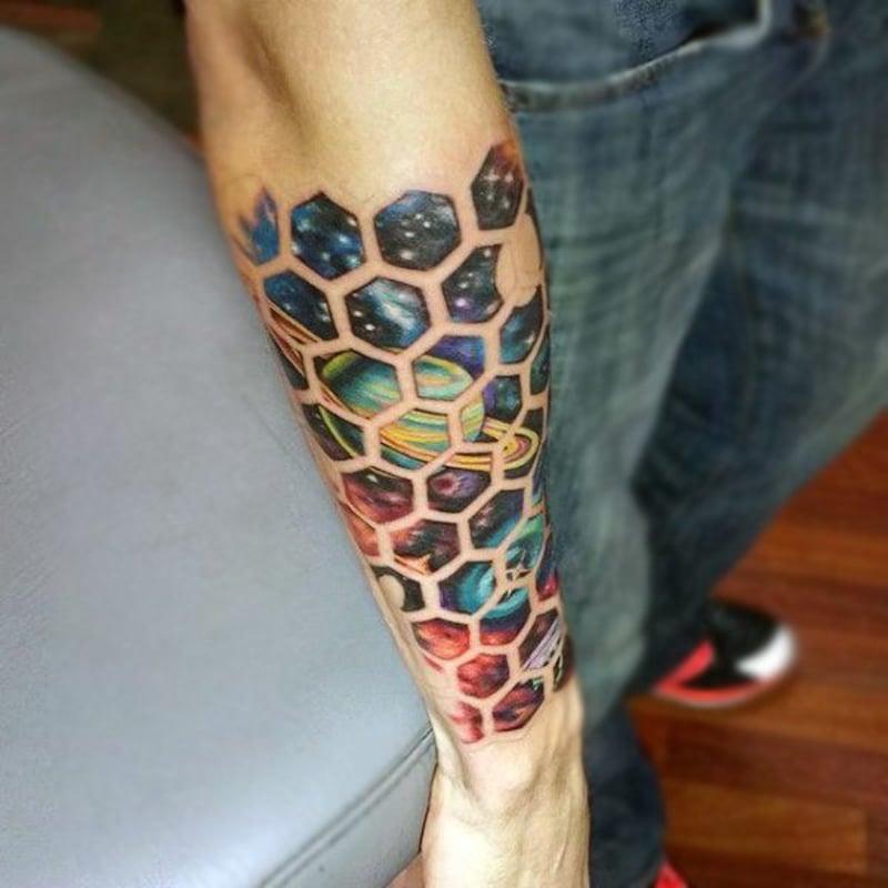 Tattoo Hexagone Unterarm Mann