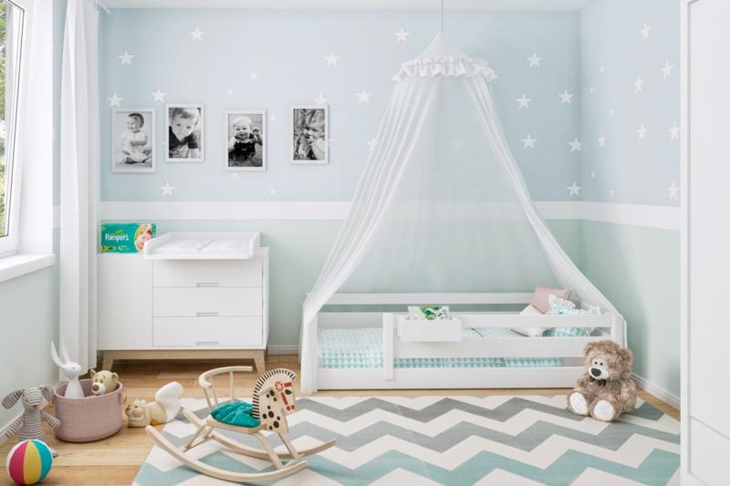 Himmelbett weiß wirklich süß Kinderzimmer