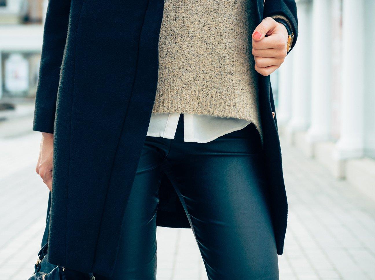 Jeggings tragen statt Jeans origineller Look