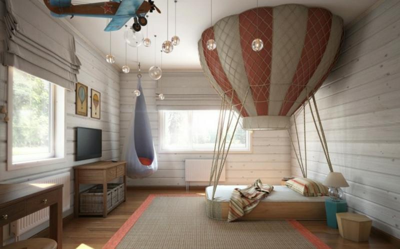 Kinderbett originelle Ideen Heißluftballon