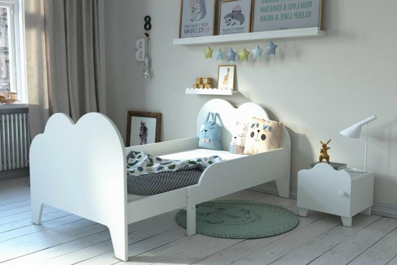 mitwachsendes Kinderbett Holz tolles Design