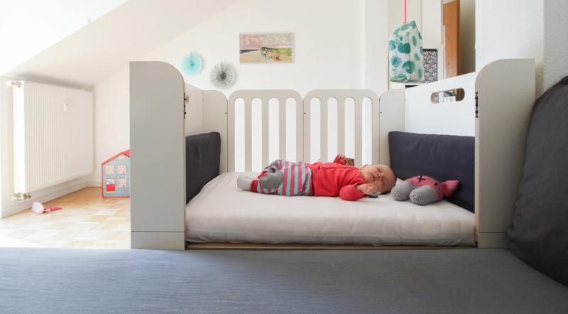 Babybett modular mitwachsend