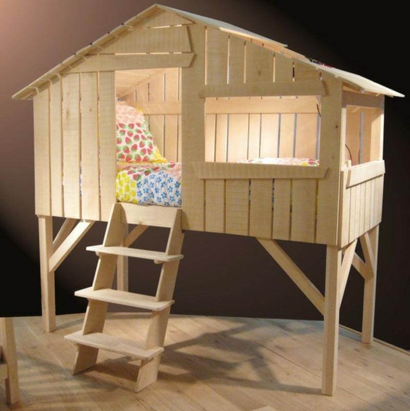 Etagenbett Baumhaus Kinderzimmer