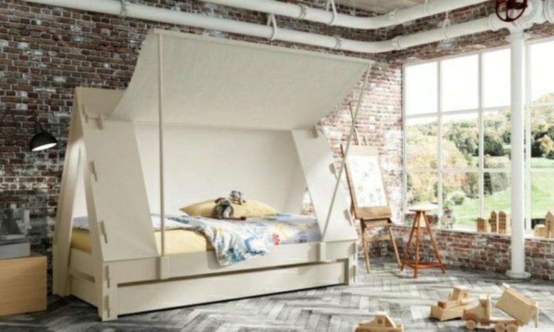 Kinderbett kaufen originell Zelt