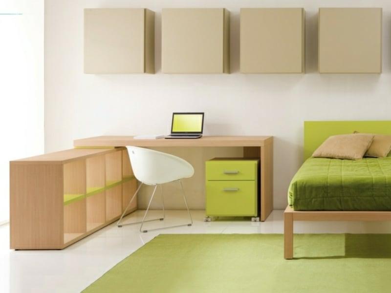 Kinderzimmer Einrichtung elegant simpel Schreibtisch