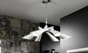 originelle Lampe Trichter PVC