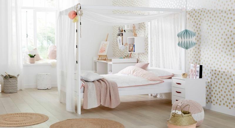 Himmelsbett Kinderzimmer herrlicher Look
