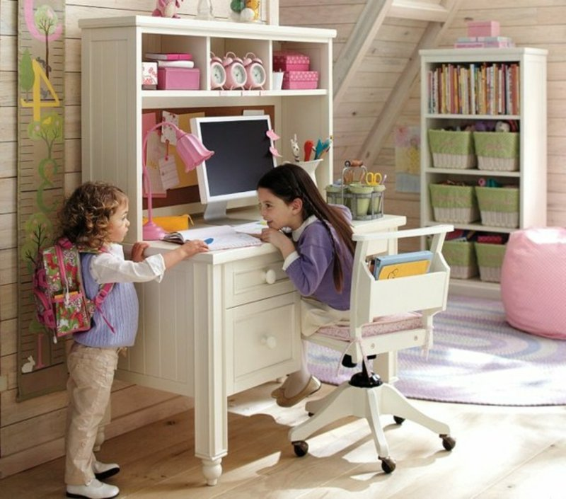 Mädchenzimmer gemütlichen Lernplatz gestalten