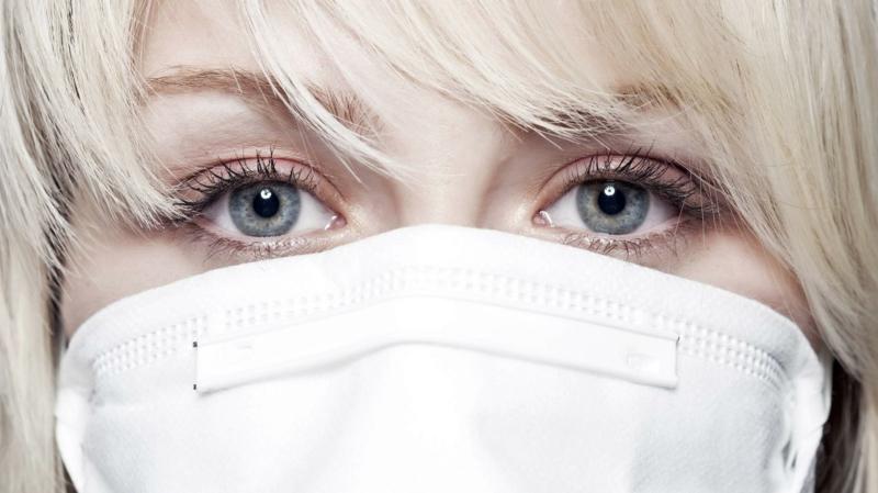 Schutzmaske tragen Mund Nase