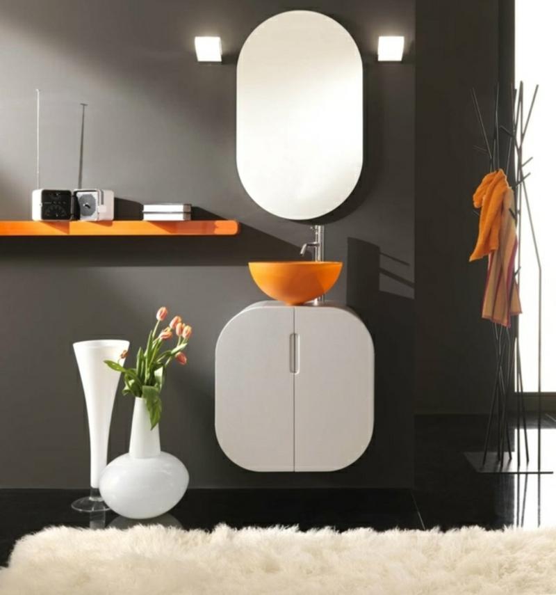 Spiegelschrank Bad rund moderne Einrichtung