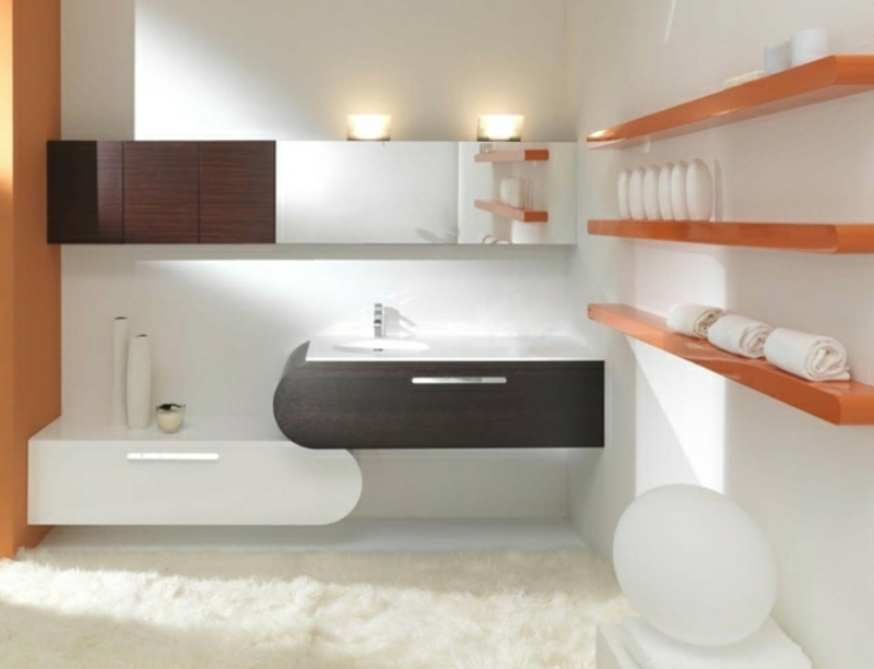 Spiegelschrank Bad mehrere Regale praktische Einrichtung