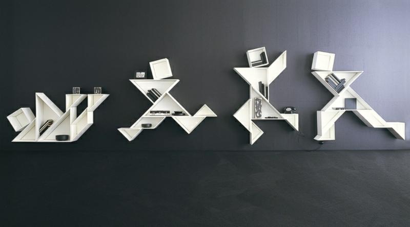 Wandregale geometrisch Dreiecke origineller Look