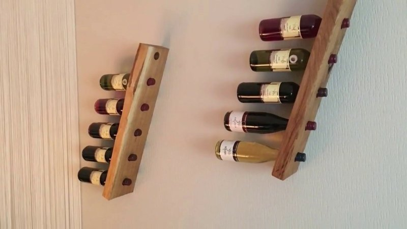 Wandregal Weinflaschen originelles Design