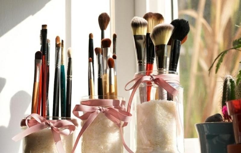 Make-up Pinsel Behälter Gläser