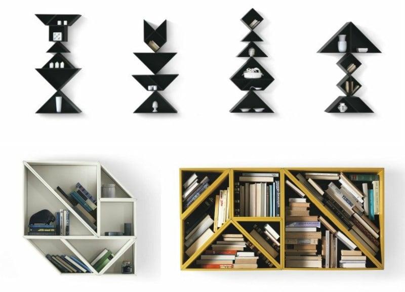 kompakte Wandregale geometrisch