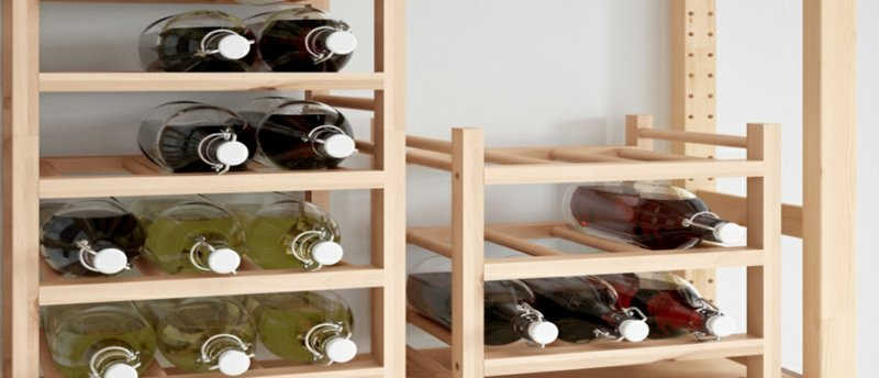Regal für Weinflaschen selber bauen