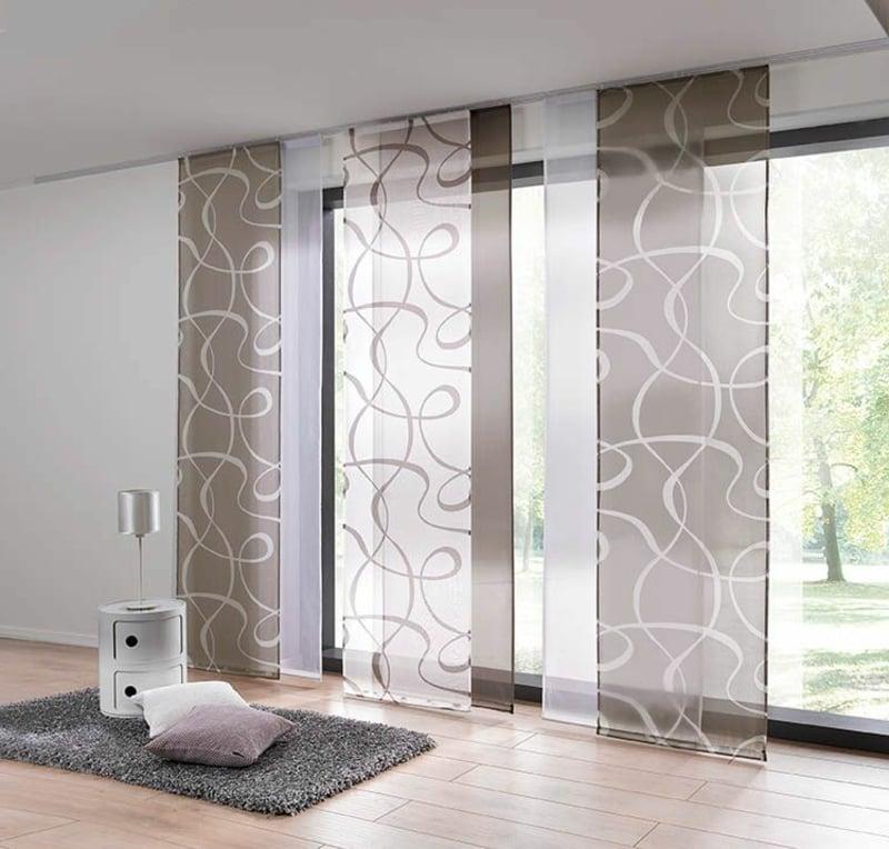 Schiebegardinen abstrakte Muster elegant