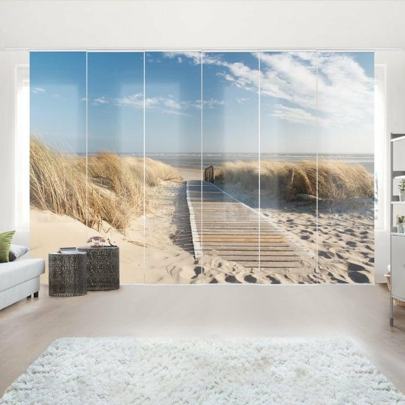 Schiebegardinen Fototapet Strand Meer
