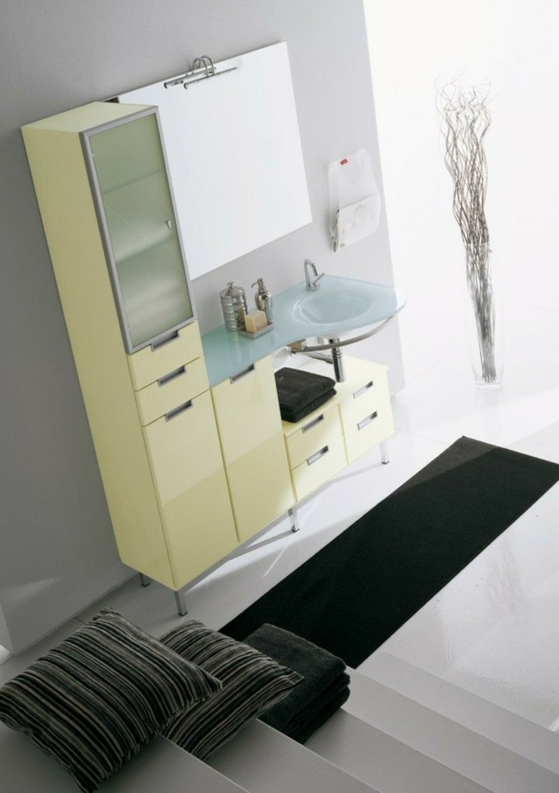 Badezimmer Einrichtung platzsparende Möbel