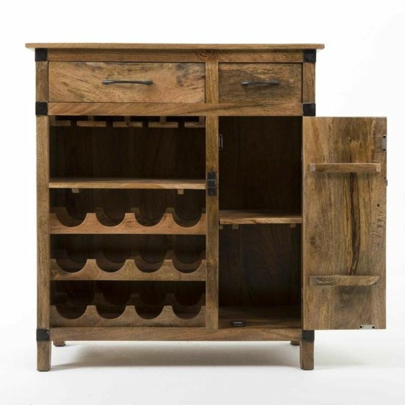 Schrank Holz Platz für Weinflaschen