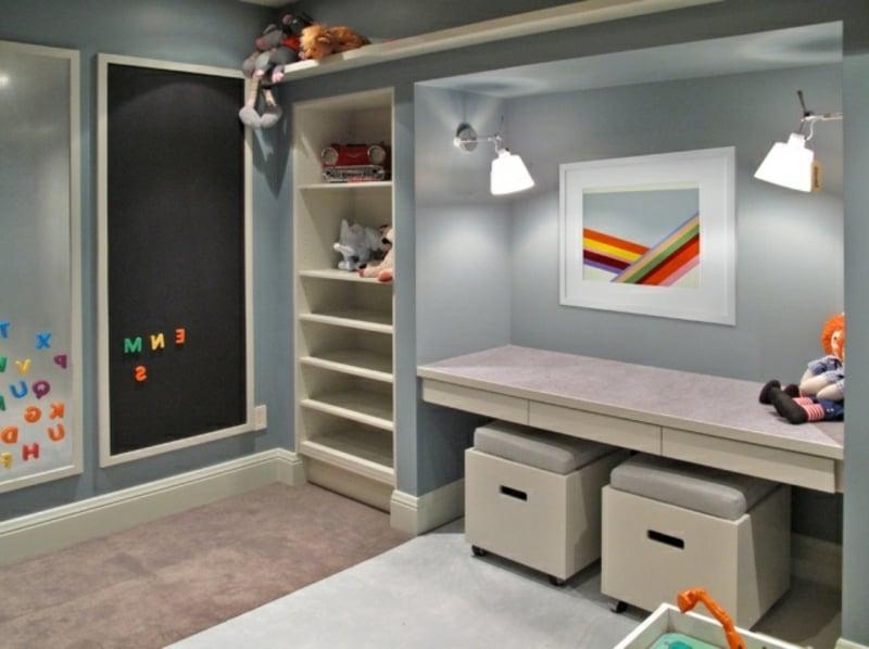 Kinderschreibtisch minimalistische Ideen