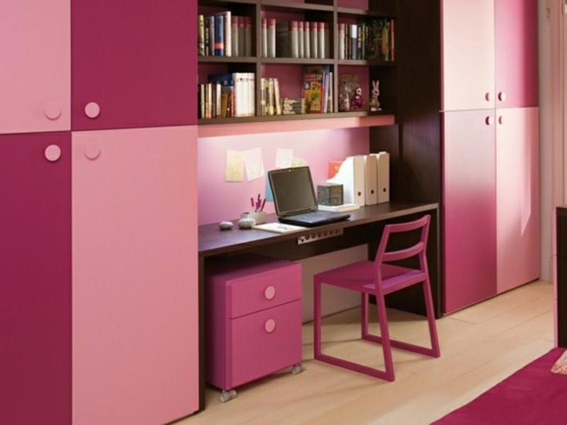 Kinderzimmer Mädchen rosa Möbel Schreibtisch