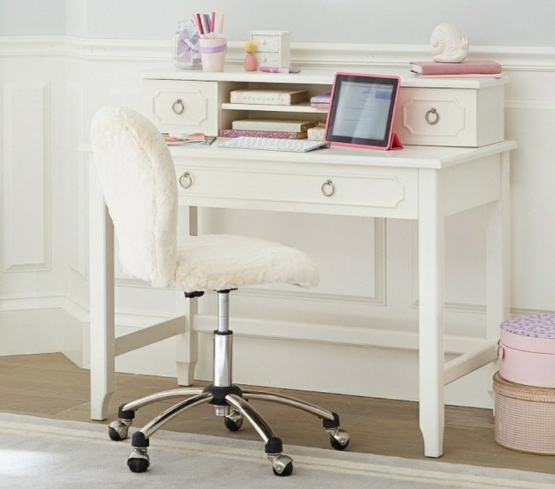 Mädchenzimmer weißer Schreibtisch