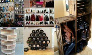 Schuhschrank selber machen Ideen und Anregungen