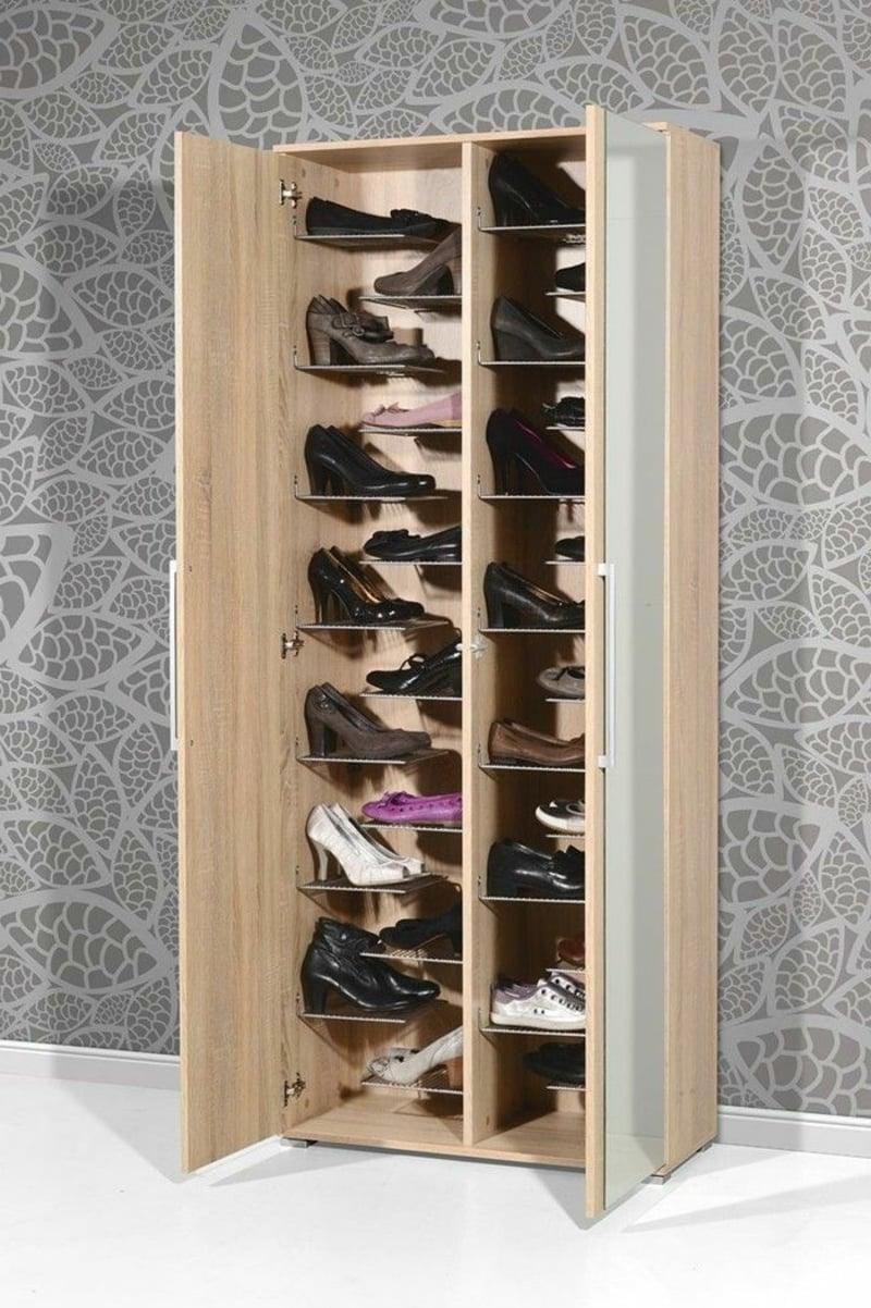 Schuhe in Ordnung halten Schrank