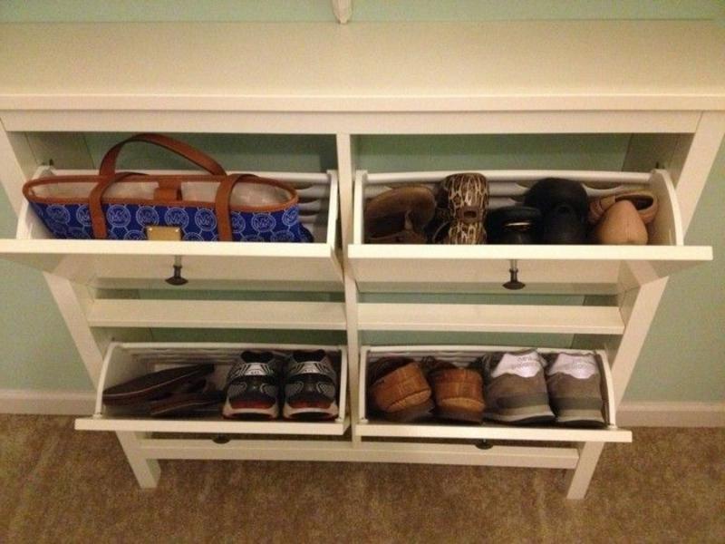 Schuhe aufbewahren praktische Ideen