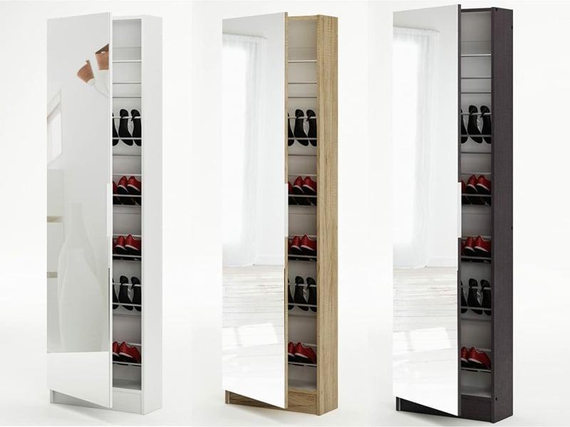 Schrank für Schuhe mit Spiegeltür verschiedene Modelle