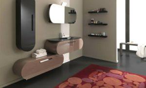 Badezimmer einrichtung moderner Schrank Spiegeltür