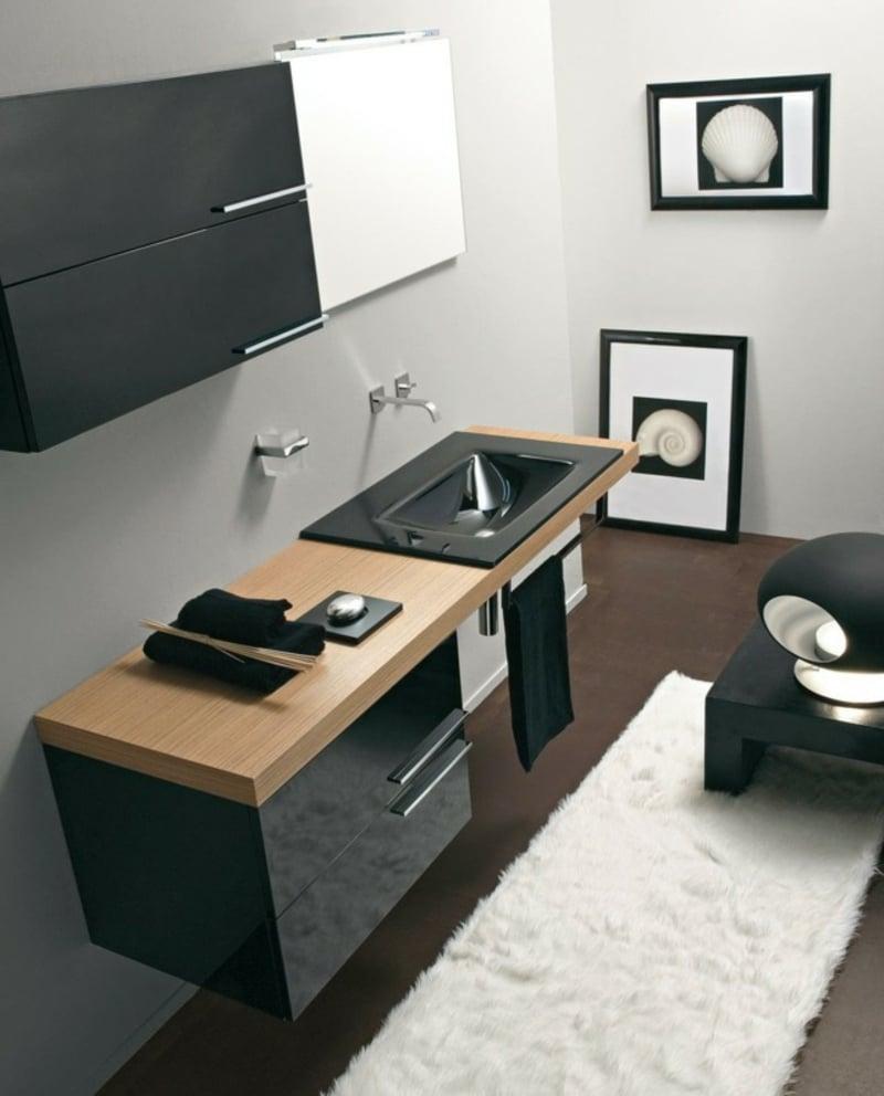 Spiegelschrank Bad Granitwaschbecken moderner Look