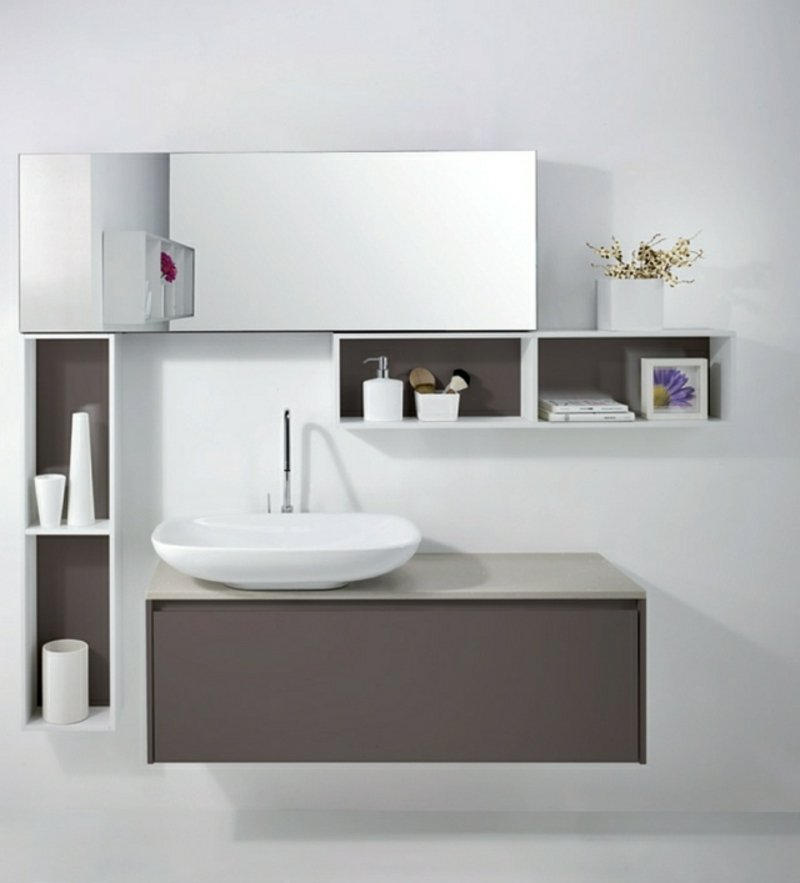 Spiegelschrank Bad Aufsartwaschbecken besonders stilvoll