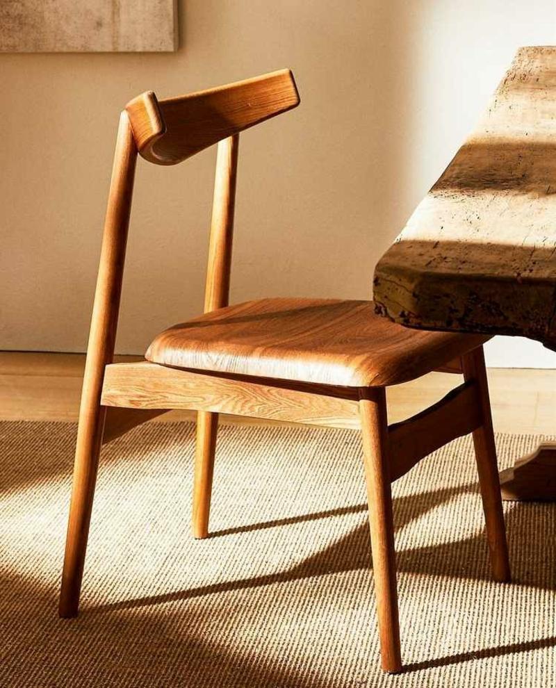 Designer Stuhl Holz ungewöhnlicher Look