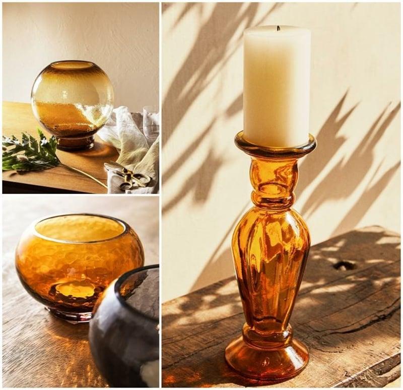Kerzenhalter aus Glas Vintage Look