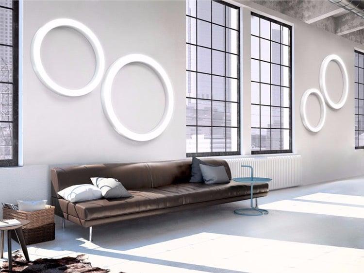 Wohnzimmerlampen Wand runde LED Leuchten