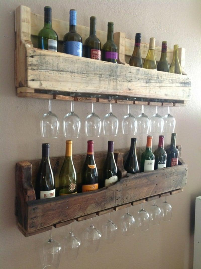 tolles Regal für Weinflaschen selbstgebaut