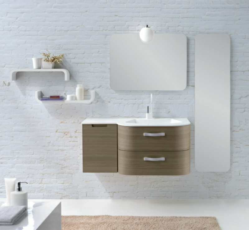 Schrank mit Spiegeltür praktische Ideen Badeinrichtung