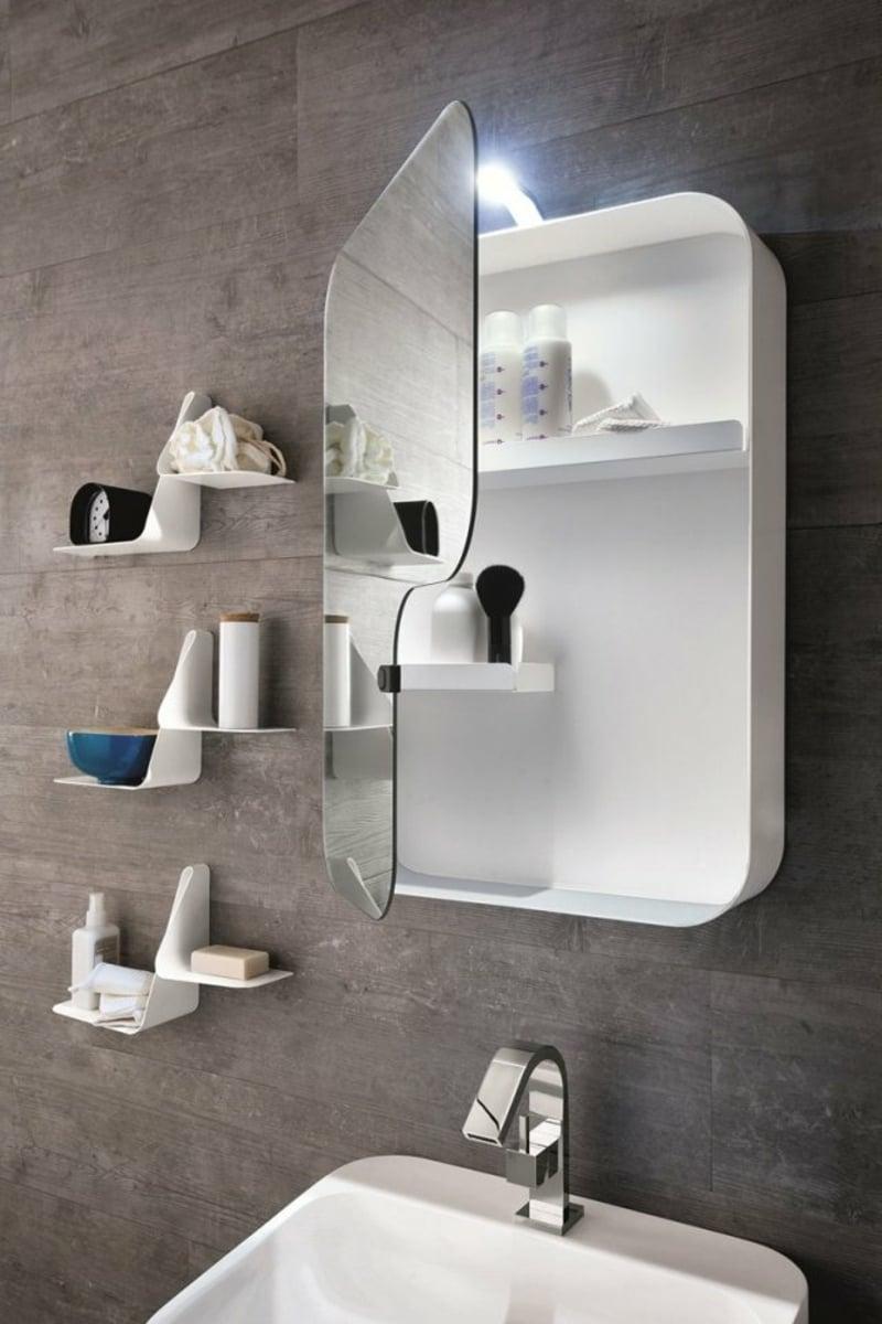 praktischer Schrank Spiegeltür Badezimmer modern