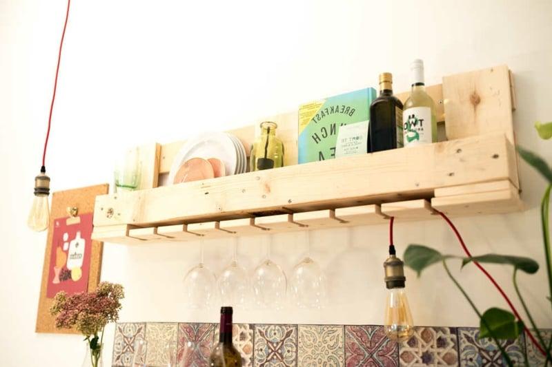 Weinregal aus Palette Küche