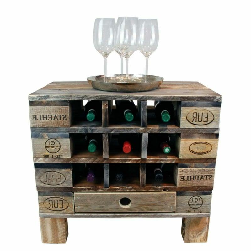 praktisches Regal Weinflasche Europalette